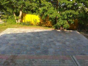Укладка тротуарной плитки на даче рис.2