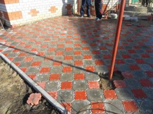 благоустройства тротуарной плиткой в Благовещенске